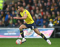 George Baldock of Oxford United   during the Emirates FA Cup 3rd Round between Oxford United v Swansea     played at Kassam Stadium  on 10th January 2016 in Oxford