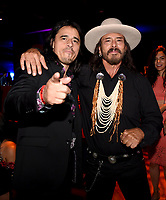 """LOS ANGELES - AUGUST 27: Antonio Jaramillo (L) and Raoul Max Trujillo attend the post party at Sunset Room Hollywood following the season two red carpet premiere of FX's """"Mayans M.C"""" on August 27, 2019 in Los Angeles, California. (Photo by Frank Micelotta/FX/PictureGroup)"""