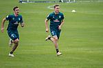 04.01.2019, Trainingsgelaende Randburg Football Club, Johannesburg, RSA, TL Werder Bremen Johannesburg Tag 02<br /> <br /> im Bild / picture shows <br /> <br /> Max Kruse (Werder Bremen #10)<br /> Niklas Moisander (Werder Bremen #18)<br /> <br /> Foto © nordphoto / Kokenge