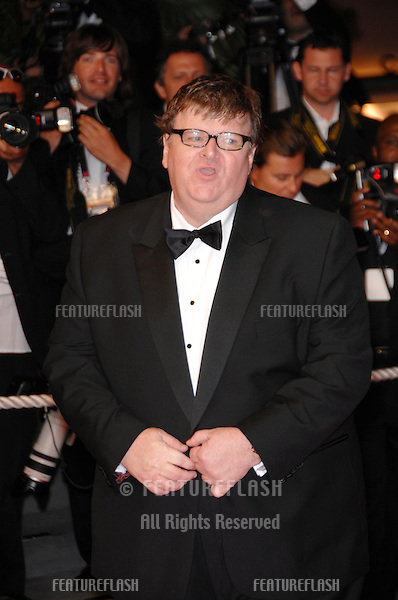"Michael Moore at screening for his movie ""Sicko"" at the 60th Annual International Film Festival de Cannes. .May 19, 2007  Cannes, France..© 2007 Paul Smith / Featureflash"