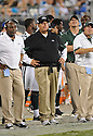 REX RYAN, of the New York Jets in action during the Jets game against the Carolina Panthers  at Bank of America Stadium in Charlotte, N.C.  on August 21, 2010.  The Jets beat the Panthters 9-3 in the second week of preseason games...
