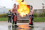 Fire Station Calender.Chip Pan Fire.Photo: Fran Caffrey/www.newsfile.ie..