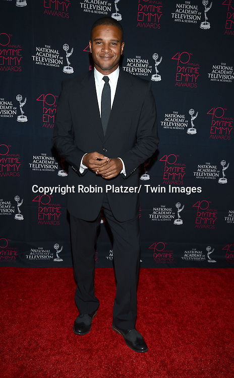 Mark Anthony Samuel  attends the 40th Annual Daytime Creative Arts Emmy Awards on June 14, 2013 at the Westin Bonaventure Hotel in Los Angeles, California.