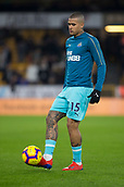 11th February 2019, Molineux, Wolverhampton, England; EPL Premier League football, Wolverhampton Wanderers versus Newcastle United; Robert Kenedy of Newcastle United warming up with the ball before the match