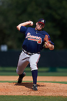 Atlanta Braves pitcher Richie Tate (40) during an instructional league game against the Toronto Blue Jays on September 30, 2015 at the ESPN Wide World of Sports Complex in Orlando, Florida.  (Mike Janes/Four Seam Images)