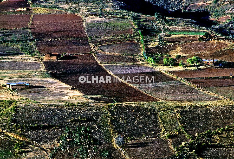 Campo agrícola no vale de Punata. Bolivia. 1992. Foto de Salomon Cytrynowicz.