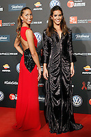 Spanis swimmers Gemma Mengual (l) and Ana Carbonel Barcelona 5th AIDS Ceremony. November 24,2014.(ALTERPHOTOS/Acero) /NortePhoto<br />