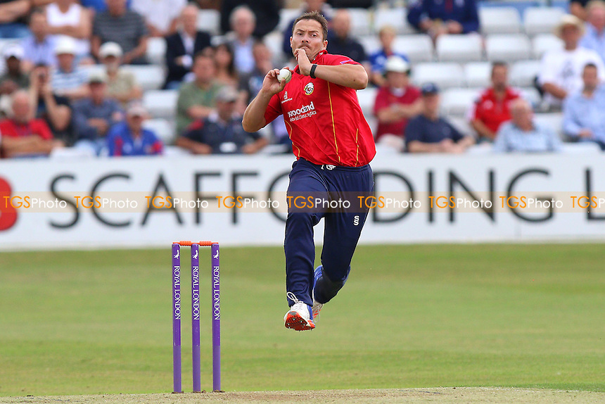 Graham Napier in bowling action for Essex during Essex Eagles vs Glamorgan, Royal London One-Day Cup Cricket at the Essex County Ground on 26th July 2016