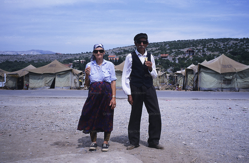 Konik refugee camp for Roma refugess in Montenegro<br />