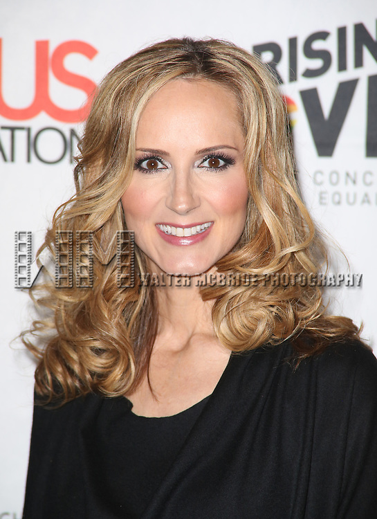 Chely Wright backstage at 'Uprising Of Love: A Benefit Concert For Global Equality' at the Gershwin Theatre on September 15, 2014 in New York City.