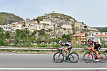 The breakaway group in action during Stage 6 of the 100th edition of the Giro d'Italia 2017, running 217km from Reggio Calabria to Terme Luigiane, Italy. 11th May 2017.<br /> Picture: LaPresse/Fabio Ferrari | Cyclefile<br /> <br /> <br /> All photos usage must carry mandatory copyright credit (&copy; Cyclefile | LaPresse/Fabio Ferrari)