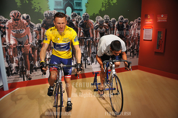 Lance Armstrong waxwork figure - grand opening of Madame Tussauds Hollywood. The new $55 million attraction is the first ever Madame Tussauds in the world to be built from the ground up. It is located on Hollywood Boulevard immediately next to the world-famous Grauman's Chinese Theatre..July 21, 2009  Los Angeles, CA.Picture: Paul Smith / Featureflash