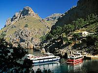 ESP, Spanien, Balearen, Mallorca, Sa Calobra - Ausflugsziel und Schiffsanlegestelle | ESP, Spain, Balearic Islands, Mallorca, Sa Calobra