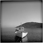 July 1996 -- Mykonos, Greek Islands -- A fisherman's boat on the Aegean Sea..Andrew Kaufman©1996