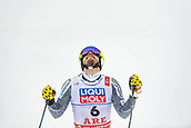 9th February 2019, ARE, Sweden; Kjetil Jansrud of Norway celebrates after competing in mens downhill during the FIS Alpine World Ski Championships on February 9, 2019 in Are.