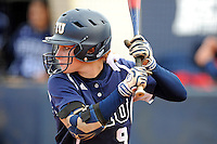 11 February 2012:  FIU's Beth Peller (9) bats as the University of Massachusetts Minutewomen defeated the FIU Golden Panthers, 3-1, as part of the COMBAT Classic Tournament at the FIU Softball Complex in Miami, Florida.