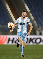 Europa League quarter-final 1st leg <br /> S.S. Lazio - FC Salzburg  Olympic Stadium Rome, April 5, 2018.<br /> Lazio's Stefan de Vrij in action during the Europa League match between Lazio and Salzburg at Rome's Olympic stadium, April 5, 2018.<br /> UPDATE IMAGES PRESS/Isabella Bonotto