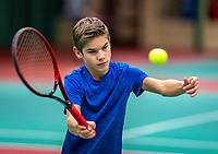 Wateringen, The Netherlands, December 4,  2019, De Rhijenhof , NOJK 14 and18 years, Teun Mantel (NED)<br /> Photo: www.tennisimages.com/Henk Koster