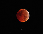 Varying phases of the lunar eclipse on December 21, 2010.