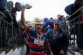 Alesio Petelo salutes the Ardmore Marist supporters as he walks up the tunnel. CMRFU Counties Power 2008 Club rugby McNamara Cup Premier final between Ardmore Marist & Patumahoe played at Growers Stadium, Pukekohe on July 26th.  Ardmore Marist won 9 - 8.