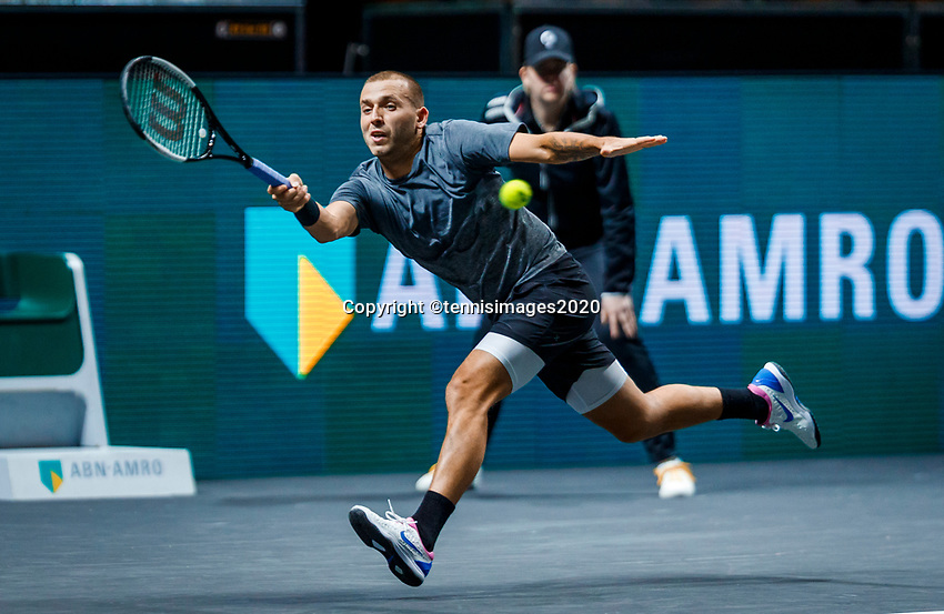 Rotterdam, The Netherlands, 10 Februari 2020, ABNAMRO World Tennis Tournament, Ahoy, Daniel Evans (GBR)  <br /> Photo: www.tennisimages.com