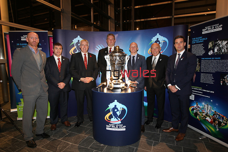Rugby League World Cup .RLWC 3013 Reception at the Senedd in Cardiff Bay..31.10.12.©Steve Pope