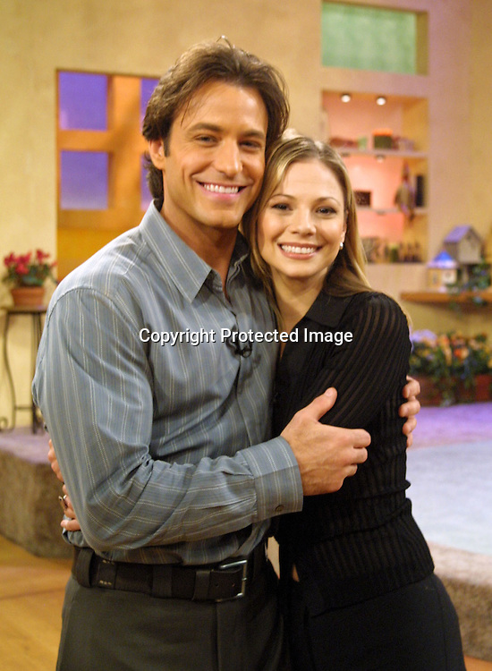 © SoapTalk/SOAPnet 2003.Photo by:  Kathy Hutchins.Photos Courtesy of SOAPnet for editorial purposes and do not require payment..Los Angeles, CA    2/1/03..Co-host Ty Treadway with .Tamara Braun, of General Hospital.during her guest appearance on SoapTalk.  During a recent interview, Ty said he'd most like to work with Tamara Braun of the actresses on daytime he hasn't worked with.