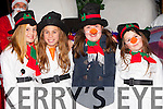 Snowgirls l-r: Caoimhe Claffey, Elena O'Donoghue, Rebecca Howe and Michaela Bingham at the Christmas in Killarney parade on Friday night