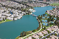 Aerial Photo of North and South Lake of Woodbridge in Irvine California