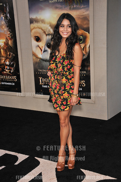 "Vanessa Hudgens at the world premiere of ""Legends of the Guardians: The Owls of Ga'Hoole"" at Grauman's Chinese Theatre, Hollywood..September 19, 2010  Los Angeles, CA.Picture: Paul Smith / Featureflash"
