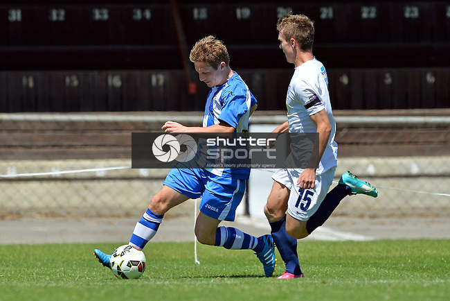 Nelson Marlborough Falcons v Auckland City Youth, ASB Youth League, 14 December 2014, Trafalgar Park, Nelson, New Zealand<br />  Photo: Barry Whitnall/shuttersport.co.nz