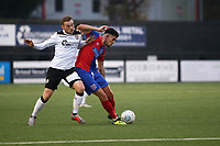 Conor Wilkinson of Dagenham takes a shot at the Bromley goal from inside his own half during Bromley vs Dagenham & Redbridge, Vanarama National League Football at the H2T Group Stadium on 24th November 2018