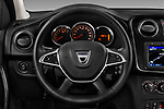 Car pictures of steering wheel view of a 2017 Dacia Logan-MCV Laureate 5 Door Wagon Steering Wheel