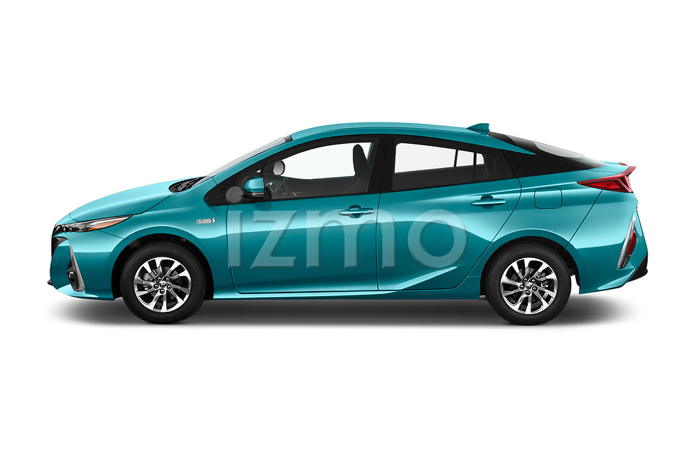 Car Driver side profile view of a 2019 Toyota Prius-Plug-in-Hybride Comfort 5 Door Hatchback Side View