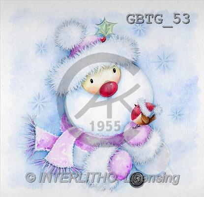 Theresa, CHRISTMAS SANTA, SNOWMAN, paintings(GBTG53,#X#) Weihnachtsmänner, Schneemänner, Weihnachen, Papá Noel, muñecos de nieve, Navidad, illustrations, pinturas