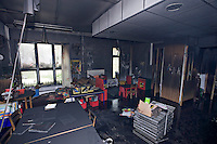 Remains of school after severe fire UK..©shoutpictures.com..john@shoutpictures.com