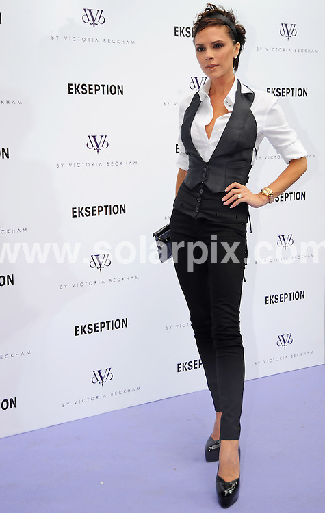 **ALL ROUND PICTURES FROM SOLARPIX.COM** **WORLDWIDE SYNDICATION RIGHTS EXCLUDING SPAIN - NO PUBLICATION IN SPAIN** .Victoria Beckham presenting her new dVb Jeans collection at new shop Ekseption in Madrid Spain. .JOB REF: 7616 RAM DATE: 16.10.08 **MUST CREDIT SOLARPIX.COM OR DOUBLE FEE WILL BE CHARGED* *UNDER NO CIRCUMSTANCES IS THIS IMAGE TO BE REPRODUCED FOR ANY ONLINE EDITION WITHOUT PRIOR PERMISSION*