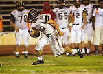 Inglewood, CA 10/09/14 - Nick Orlando (Peninsula #15) in action during the Palos Verdes Peninsula vs Morningside CIF Varsity football game at Coleman Field in Inglewood.  Peninsula defeated Morningside 24-13.