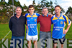 Keey Ledgends Weekend:Eoin O'Connell, Kerry minor sub goalie pictured with Johnny Horgan , his father Tom O'Connell & Tommy Doyle in Finuge on Saturday last at the Exhibition game during the Finuge GAA clubs Kerry Legends Weekend.