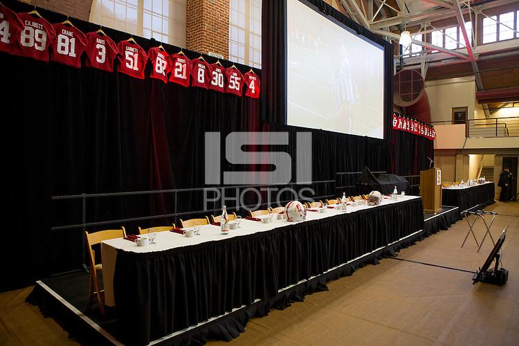STANFORD, CA - DECEMBER 6, 2015--Stanford Football 2015 Awards Banquet at Burnham Pavilion.