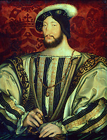 Paintings:  Jean Clouet (1485/1490-1540/1541)  Francois I (1494-1547)   Louvre.  Reference only.