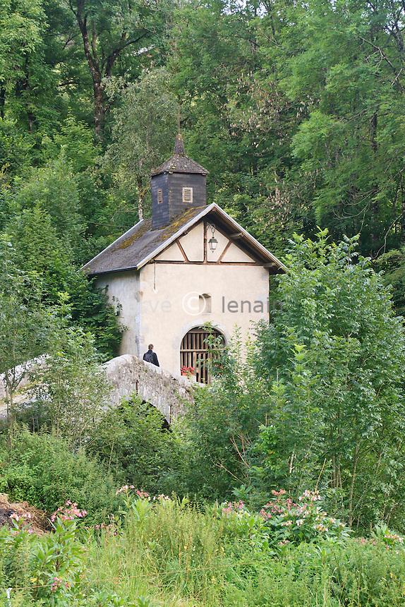 France, Haute-Savoie (74), Thônes, chapelle de la Bossenaz datée du XVII ème siècle // France, Haute-Savoie, Thones, Chapel of Bossenaz dated XVII century