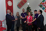 Ged Nash TD, Eleanor Carter, Cathriona Cullighan Barry Smith, Sr Agnes, Joseph Clinton, and Kevin Callan Boomarang get a christmas present.<br /> Picture: Fran Caffrey www.newsfile.ie