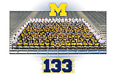 "Team 133 in their official team photograph at Michigan Stadium on August 19, 2012. This ""Autograph Edition"" print is available in four sizes, from 12x18 to 24x36, and features generous amounts of space for autographs by team members."