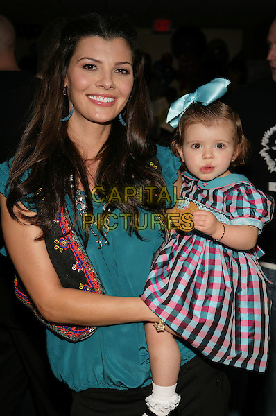 ALI LANDRY & ESTELA.Boom Boom Room?s Children?s Gifting Wonderland presented by Born Free and Baskin Robbins held at the Century Plaza Hotel, Century City, California, USA..January 9th, 2009.half length daughter mother mom mum family blue pink black dress pattern bow ribbon hair .CAP/ADM/TC.©T. Conrad/AdMedia/Capital Pictures.
