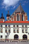 Small Marketplace - back of St Barbara's Church, Cracow, Poland