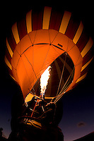 A hot air balloon begins to fill during the annual Carolina BalloonFest, held each fall in Statesville, NC. Photos were taken at the October 2008 event.