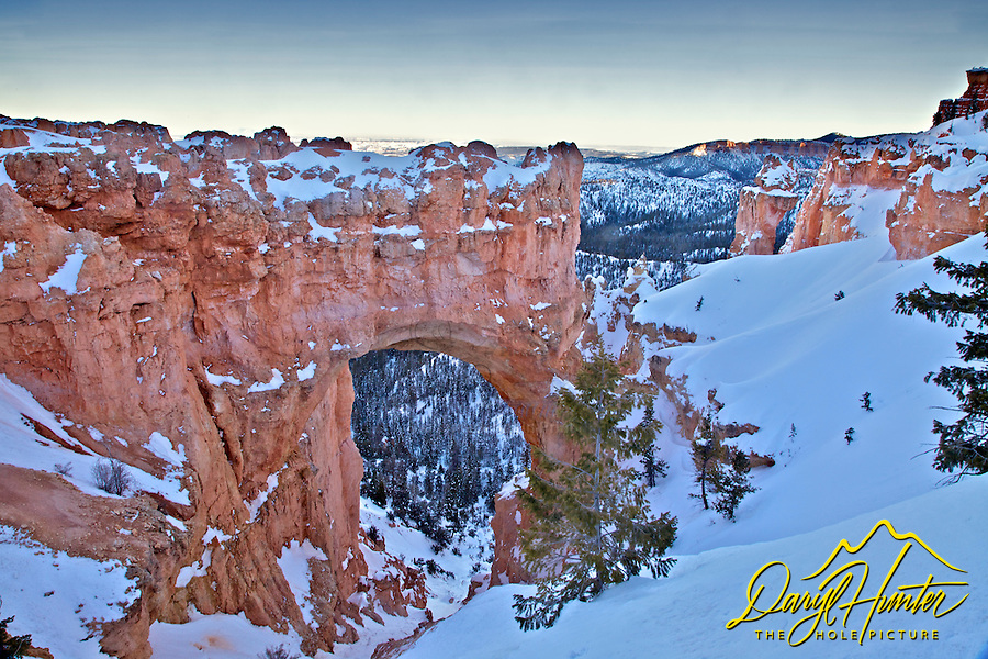 Winter, Natual Bridge Arch, Bryce Canyon National Park