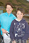 Kate and Adrian O'Connor, Glencar, pictured at the Hospice walk in Rossbeigh on Friday.