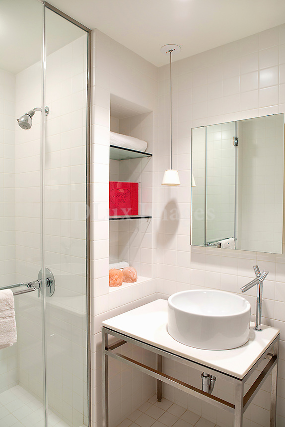 Contemporary white sink